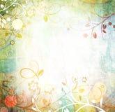 Fond grunge floral de trame Photo libre de droits