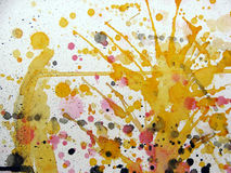 Fond grunge illustré par abstrait Photos libres de droits