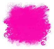 Fond grunge rose de souillure de peinture illustration stock