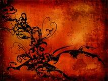 Fond grunge texturisé rouge Photo libre de droits