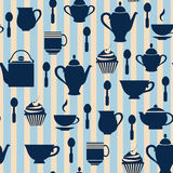 Fond heure du thé - illustration Photo stock