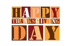 Fond heureux coloré de carte des textes de jour de thanksgiving illustration stock