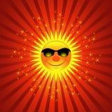 Fond heureux d'éclat de Sun d'été Photographie stock