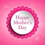 Fond heureux d'étiquette de coeur de fête des mères Photos libres de droits