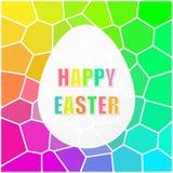 Fond heureux d'arc-en-ciel de mosaïque de Pâques Photos stock