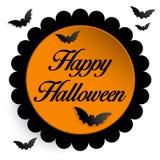 Fond heureux d'icône de batte de Halloween Ghost Images stock