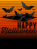 Fond heureux d'icône de batte de Halloween Ghost Photographie stock libre de droits