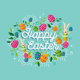 Fond heureux d'illustration de printemps de Pâques Images libres de droits