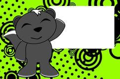 Fond heureux de bande dessinée d'émotion de mouffette illustration stock