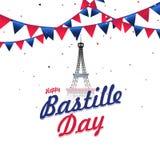 Fond heureux de célébration de jour de bastille Photographie stock libre de droits