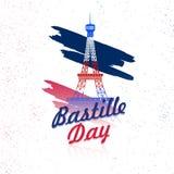 Fond heureux de célébration de jour de bastille Photo stock