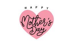 Fond heureux de calligraphie de jour du ` s de mère Illustration faite main de vecteur de calligraphie Carte heureuse de calligra Photo libre de droits