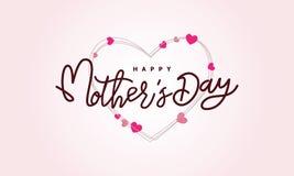 Fond heureux de calligraphie de jour du ` s de mère, illustration faite main de vecteur de calligraphie, carte heureuse de callig Images stock