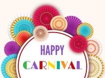 Fond heureux de carnaval Images libres de droits