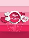Fond heureux de coeur de fête des mères Images libres de droits