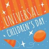 Fond heureux de concept de jour d'enfants, style de bande dessinée illustration stock