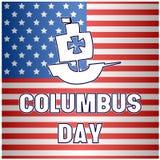 Fond heureux de drapeau de Columbus Day Images libres de droits