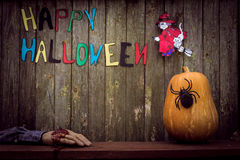 Fond heureux de Halloween Photos stock
