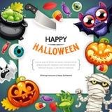 Fond heureux de Halloween avec l'obscurité de l'espace de copie illustration de vecteur