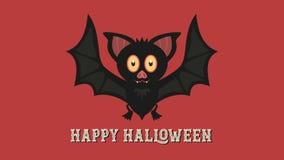 Fond heureux de Halloween avec le caractère de batte illustration de vecteur