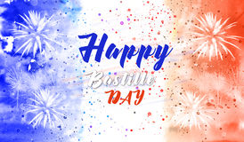 Fond heureux de jour de bastille Image libre de droits