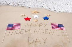 Fond heureux de Jour de la Déclaration d'Indépendance Photo stock