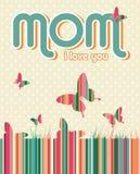 Fond heureux de jour de mères Photo stock