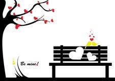 Fond heureux de jour de Valentines Photographie stock libre de droits
