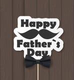 Fond heureux de jour de pères La meilleure illustration de vecteur de papa Image libre de droits