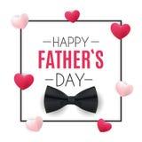 Fond heureux de jour de pères La meilleure illustration de vecteur de papa Photos libres de droits
