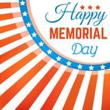 Fond heureux de Memorial Day avec la bannière étoilée Photo stock