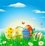 Fond heureux de Pâques Photo libre de droits