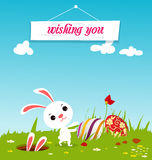 Fond heureux de Pâques Photos libres de droits