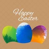 Fond heureux de Pâques Conception de vecteur Photos stock