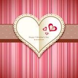 Fond heureux de rose de design de carte de salutation de Saint-Valentin Photo libre de droits