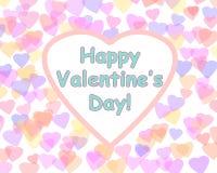Fond heureux de Saint-Valentin avec des coeurs de couleur Image stock