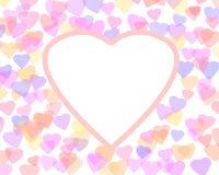 Fond heureux de Saint-Valentin avec des coeurs de couleur Illustration romantique Images libres de droits