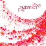 Fond heureux de Saint Valentin avec des coeurs Vecteur illustration stock