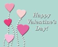 Fond heureux de Saint-Valentin avec les coeurs roses Photo stock
