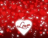 Fond heureux de Saint-Valentin avec les coeurs rouges Images libres de droits
