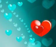 Fond heureux de Saint Valentin vert d'eau Images stock