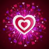 Fond heureux de vacances de lueur de Saint-Valentin Photo stock