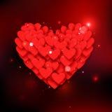 Fond heureux de vacances de lueur de Saint-Valentin Image stock