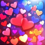 Fond heureux de vacances de lueur de Saint-Valentin Photos stock