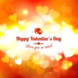 Fond heureux de vacances de lueur de Saint-Valentin Photos libres de droits