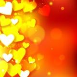 Fond heureux de vacances de lueur de Saint-Valentin Images libres de droits