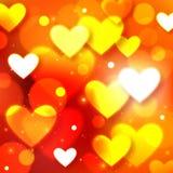 Fond heureux de vacances de lueur de Saint-Valentin Image libre de droits
