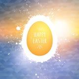 Fond heureux de vecteur de Pâques Image stock