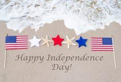 Fond heureux des Etats-Unis de Jour de la Déclaration d'Indépendance Photos libres de droits