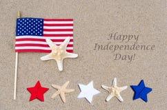 Fond heureux des Etats-Unis de Jour de la Déclaration d'Indépendance Photographie stock libre de droits